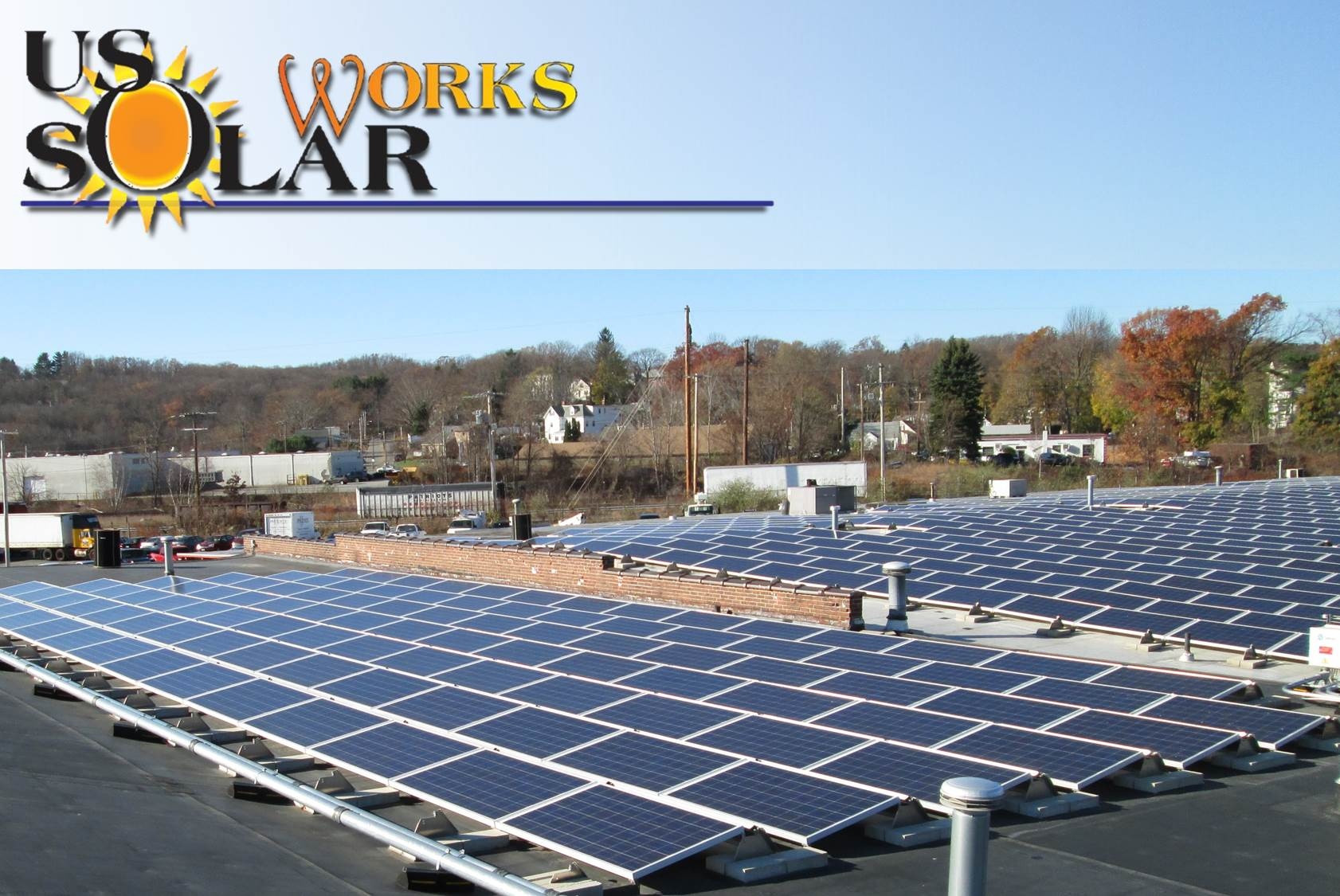 Commercial solar array in Worcester, MA