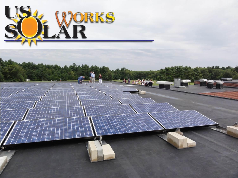 Rooftop solar array in Norton, MA