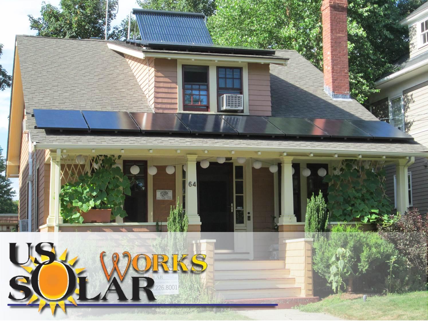 Residential solar array in Providence, RI