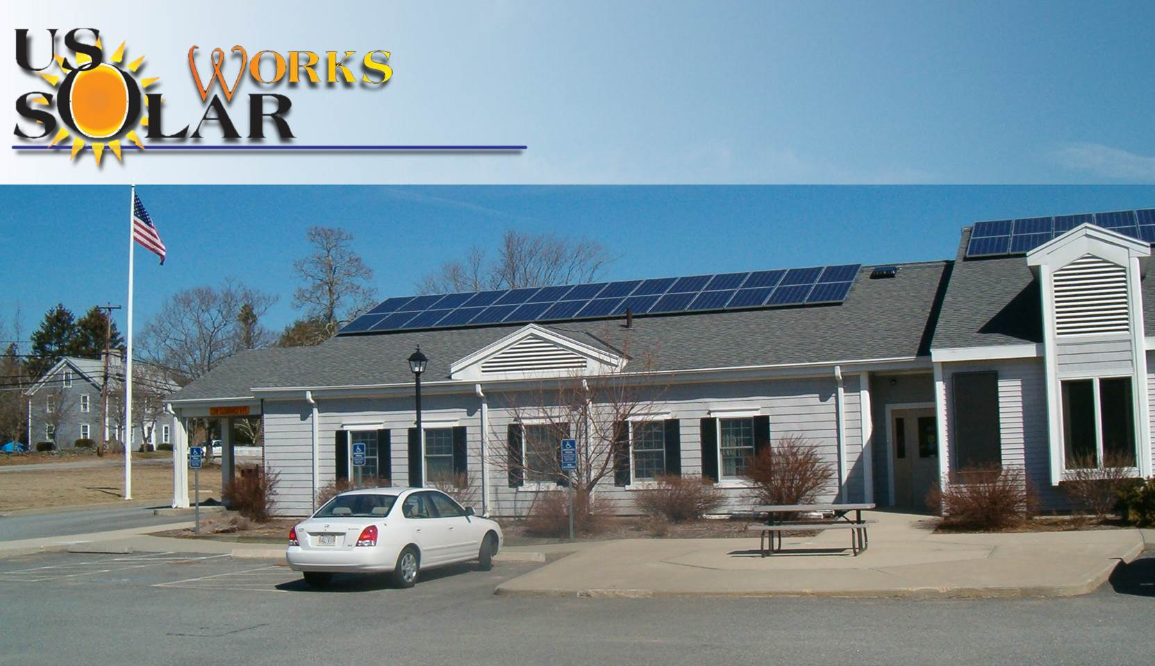 Rooftop array in Rehoboth, MA