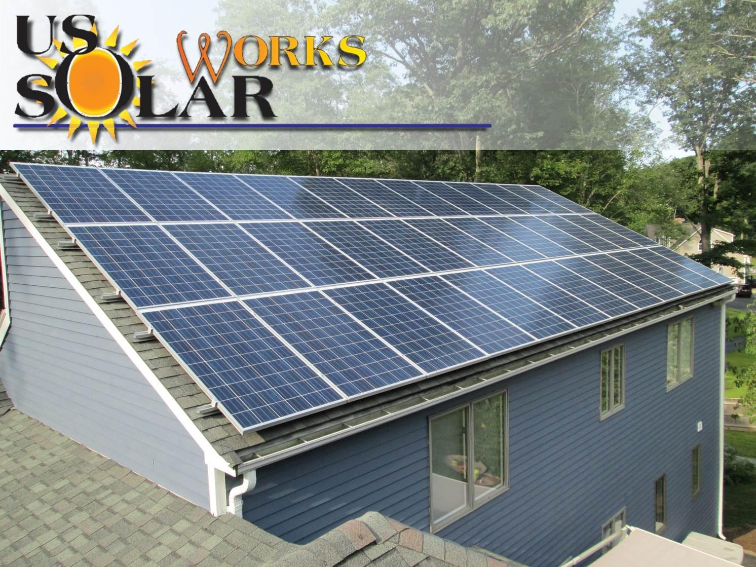 Residential solar array in Attleboro, MA