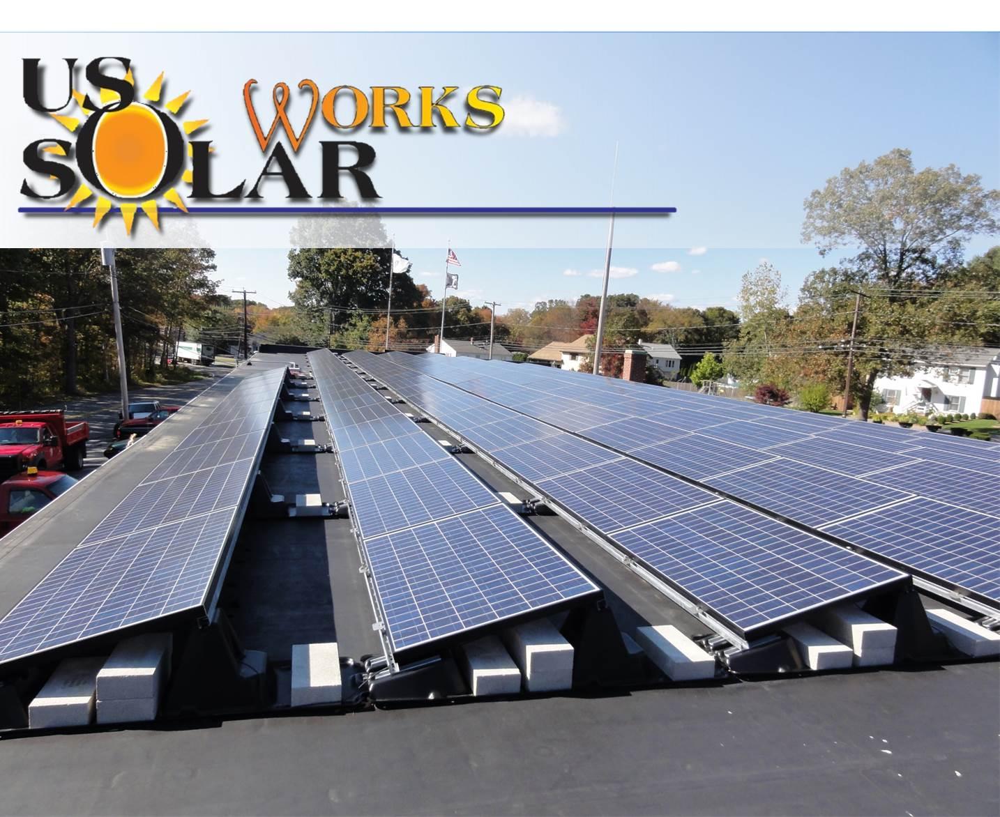Rooftop solar array in Seekonk, MA