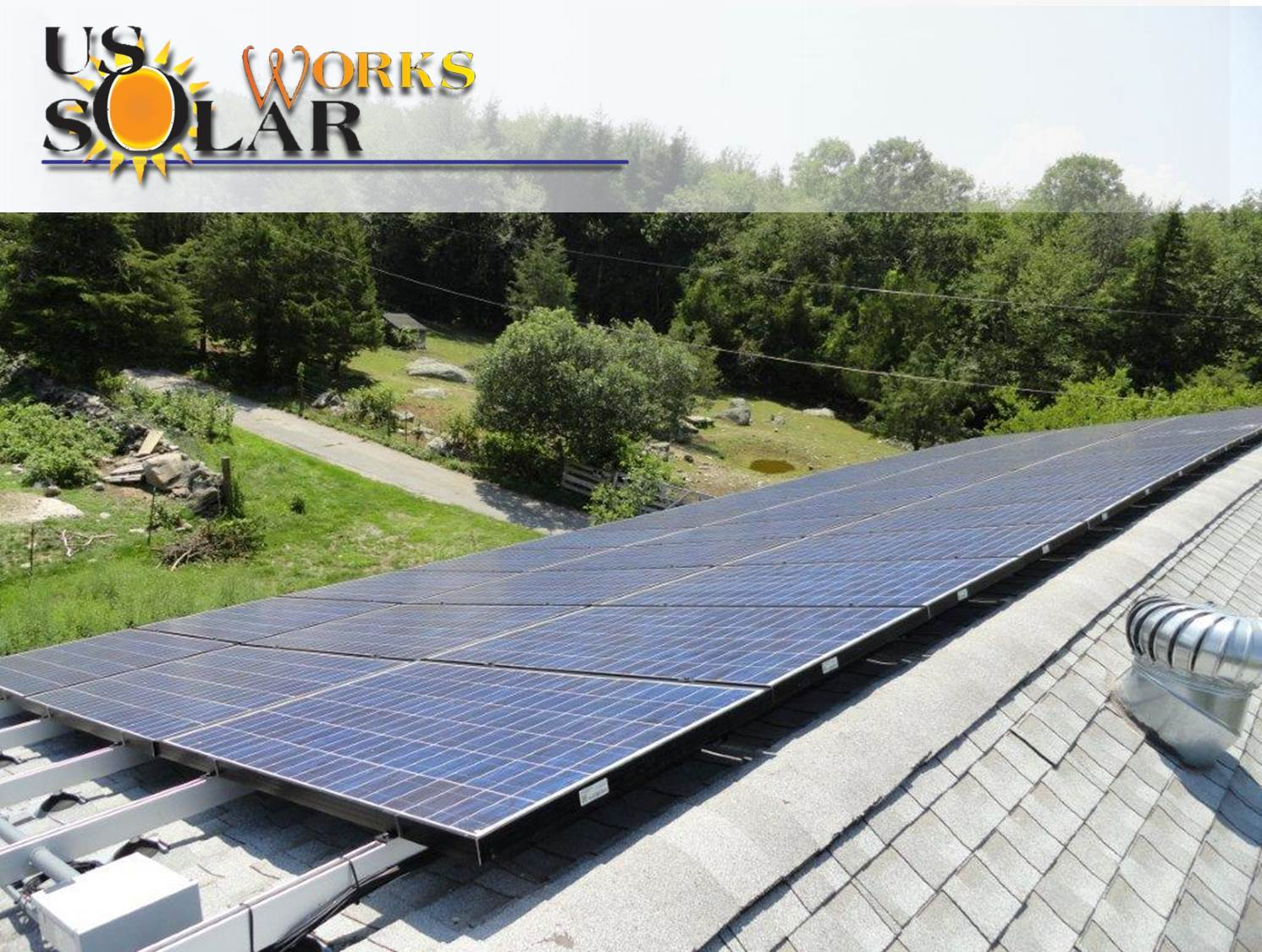 Rooftop solar array in Rehoboth, MA