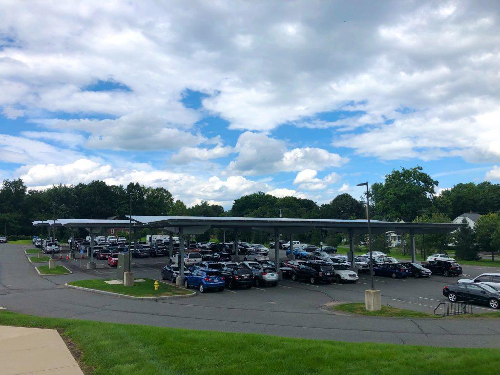 Solar carports in Greenfield, MA