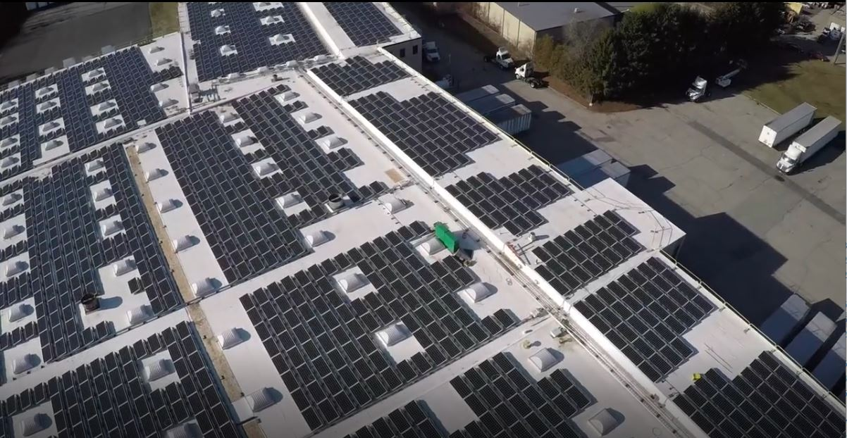 Large commercial solar project in Attleboro, MA
