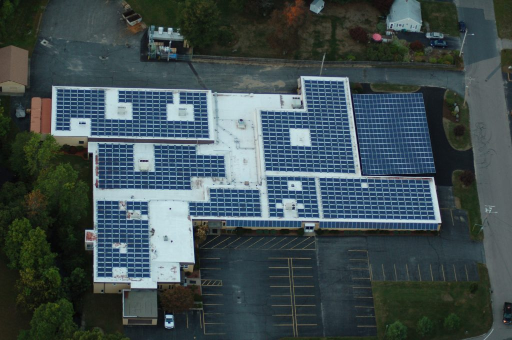 Commercial solar carport, awning, canopy in Attleboro, MA