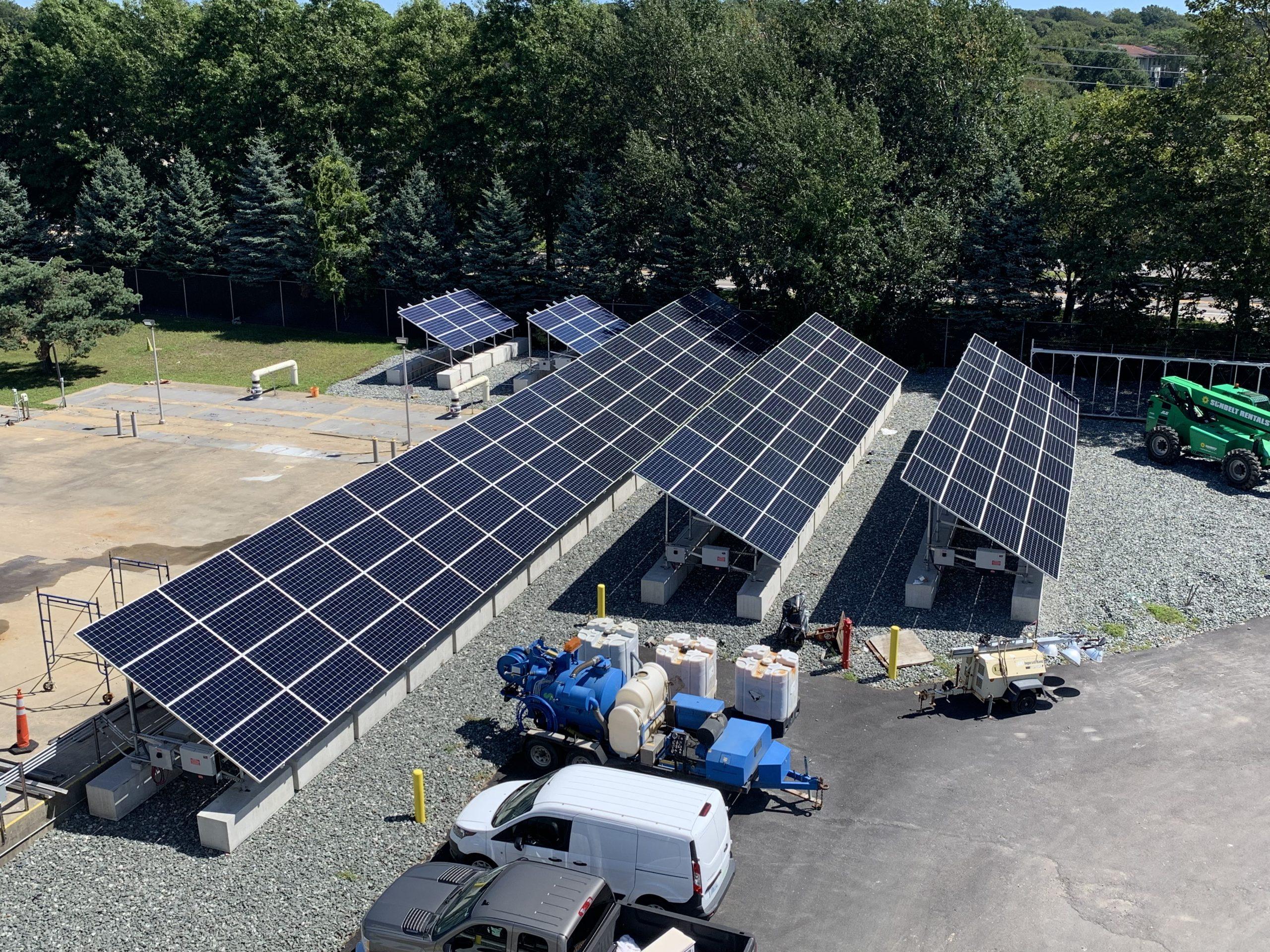 Industrial ground mount solar in Newport, RI